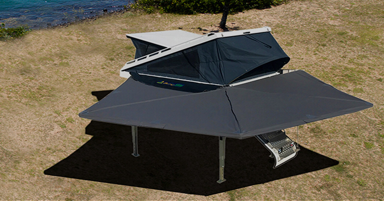 Roof racks, tents, awnings